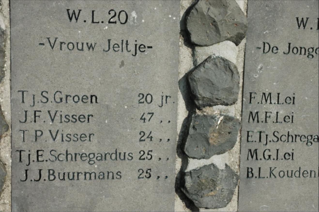 Namen op het monument