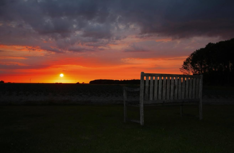 Zonsondergang vanuit Potershok - Lytshuis Zilver